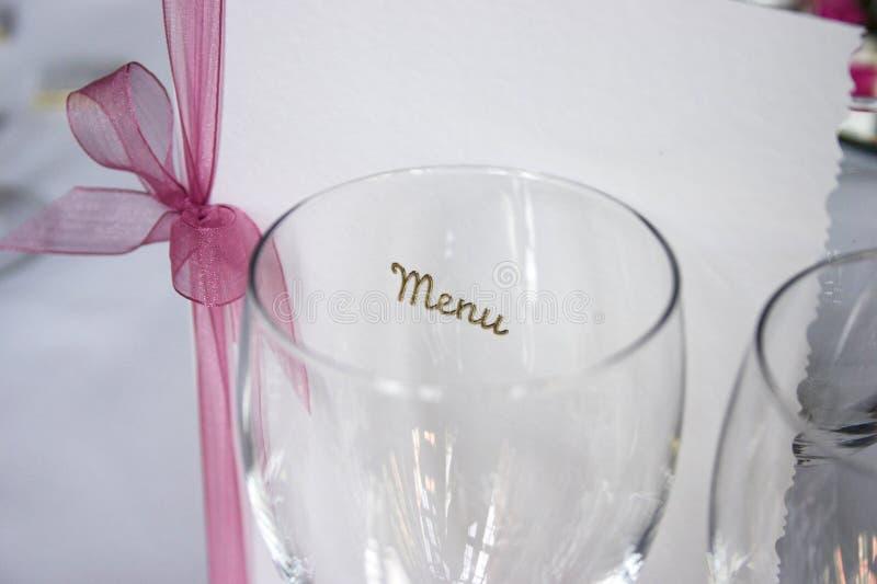 ¿Cuál está en el menú.? foto de archivo libre de regalías