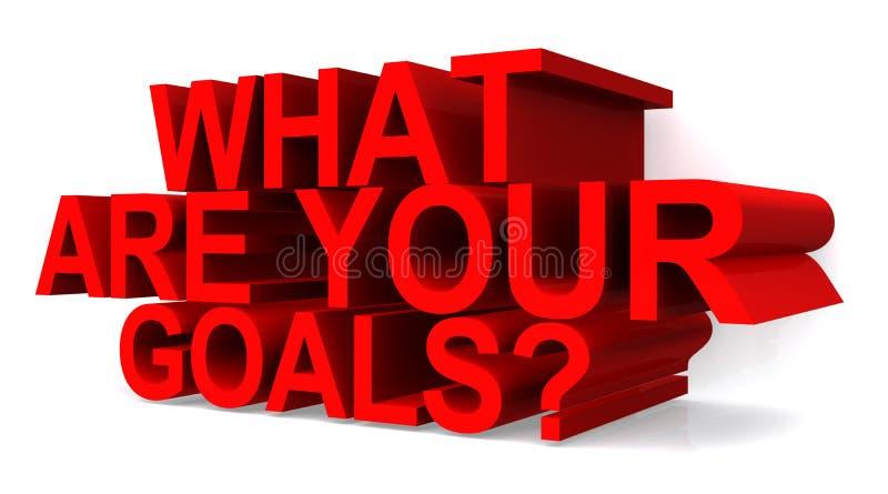 ¿Cuáles son sus metas? stock de ilustración