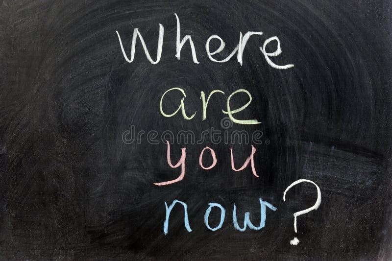 ¿Dónde ahora está usted? foto de archivo