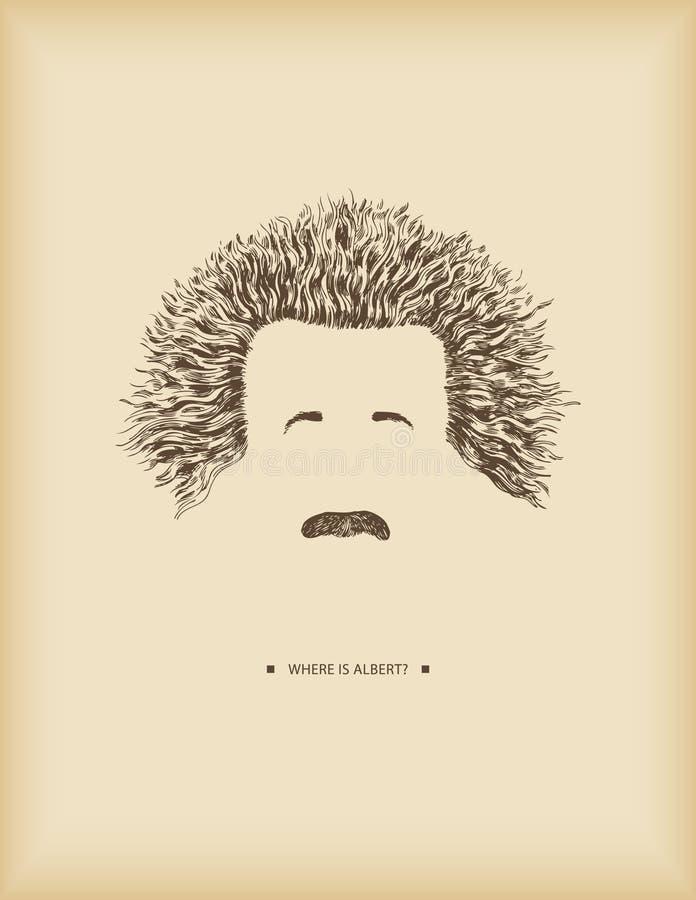 ¿Dónde está Albert? ilustración del vector