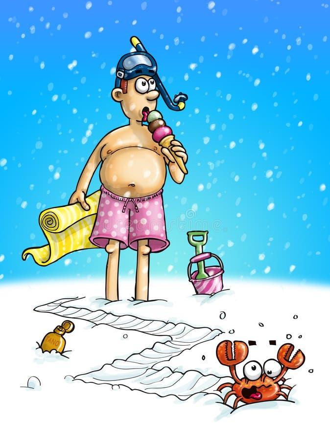 ¿El calentamiento del planeta o Navidad viene temprano? ilustración del vector