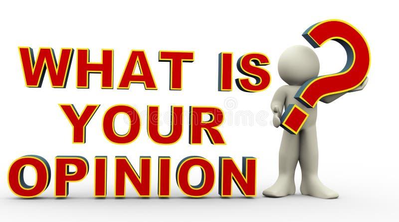 ¿hombre 3d - cuál es su opinión? ilustración del vector