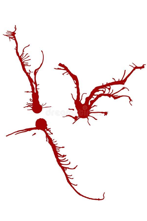 ¿Manchas De óxido De La Tinta O De Sangre? (vector