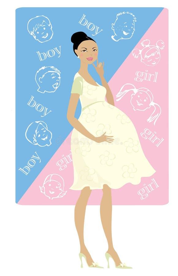 ¿Muchacho o muchacha? stock de ilustración