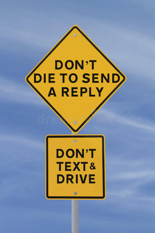 ¿Muerte para enviar una contestación? foto de archivo