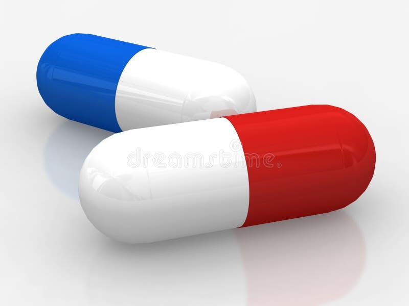 ¿Píldora roja o azul? libre illustration