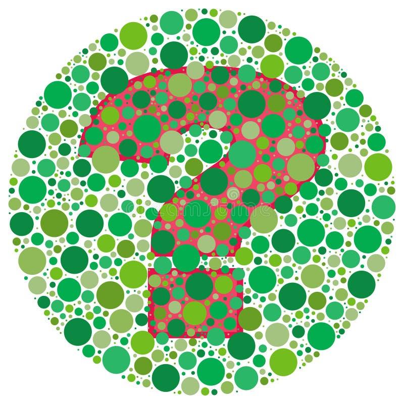 ¿Puede usted ver por qué? ilustración del vector