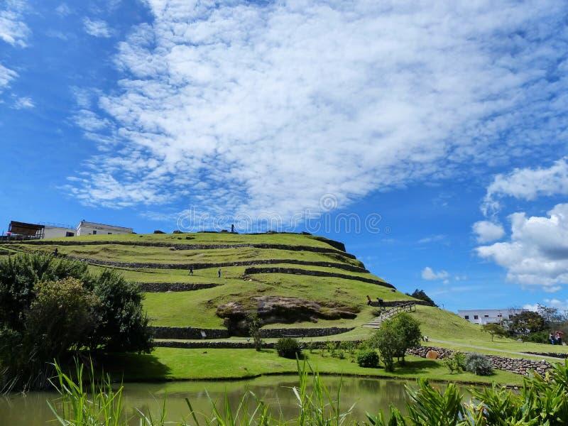 ¿Pumapungo, ruinas de los incas de la ciudad antigua Tomebamba? Cuenca, Ecuador imagenes de archivo