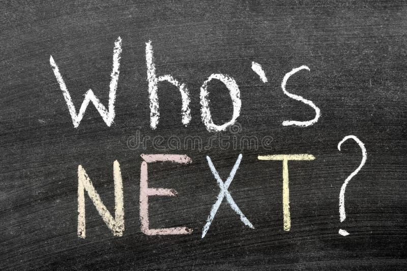 ¿Quién es siguiente? imagenes de archivo