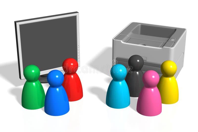 ¿RGB o CMYK? stock de ilustración