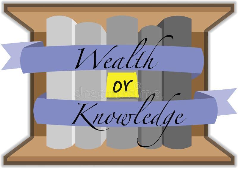 ¿Riqueza o conocimiento? imagen de archivo