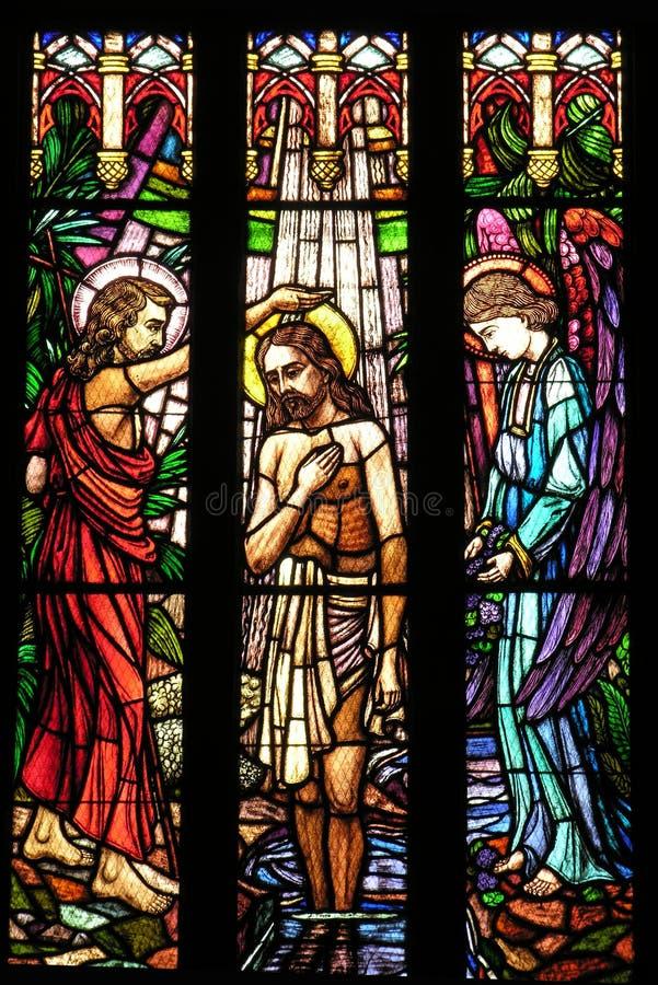 ¿San Pedro? ventana de cristal stainded catedral de s fotografía de archivo