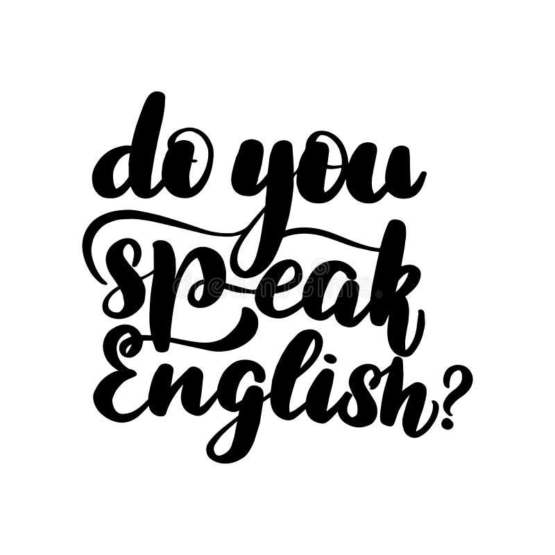 ¿Usted habla inglés? ilustración del vector