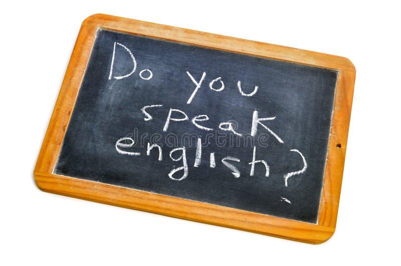 ¿Usted habla inglés? imagen de archivo libre de regalías