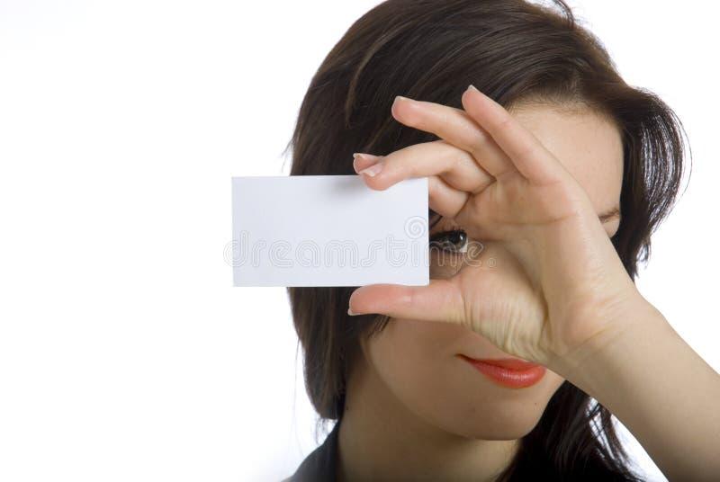 ¿Usted quiere mi tarjeta de visita? fotos de archivo