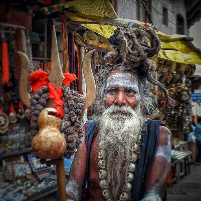 बाबाओ का शहर बनारस। the varanasi city of babas stock images