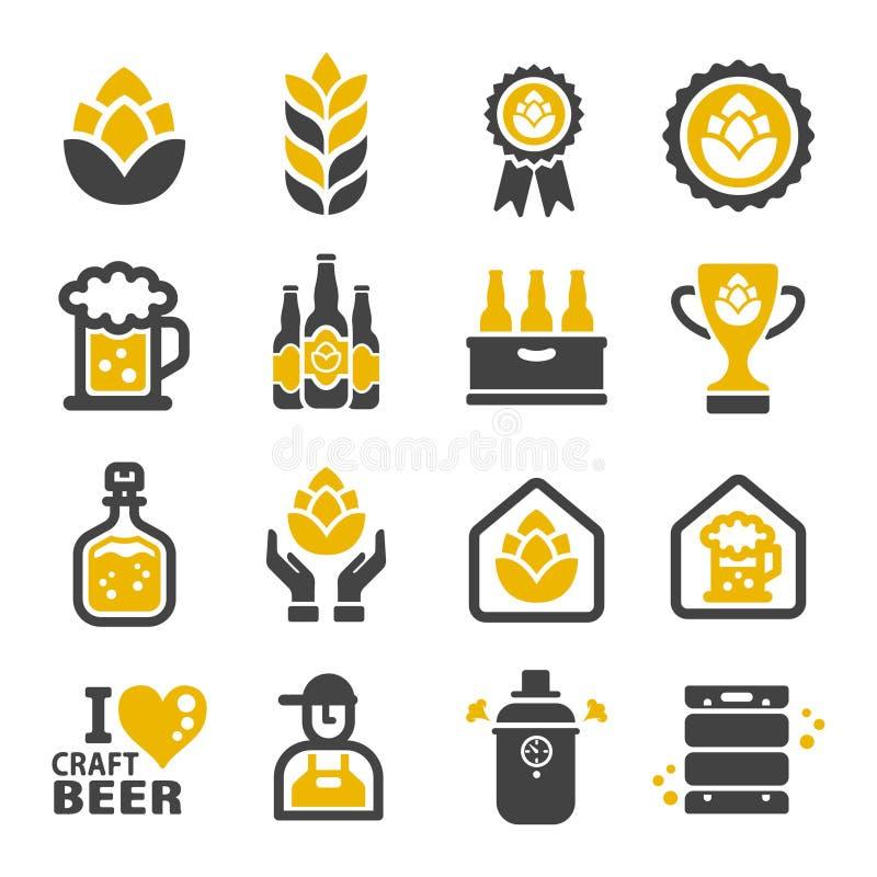 À¸° de ³ d'ภd'ภd'icône de bière de métier « illustration stock