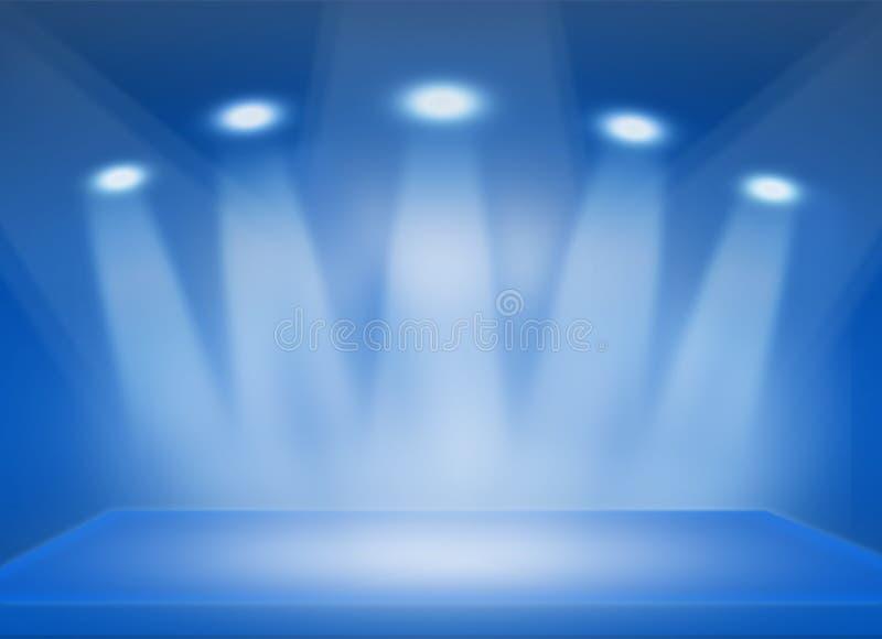 ฺBlue Stage background royalty free illustration