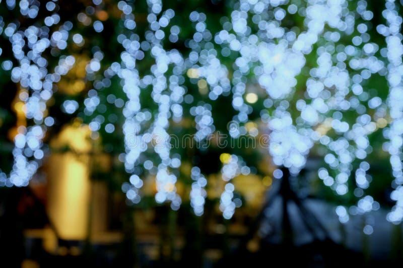 ฺBokeh light on the night. royalty free stock image