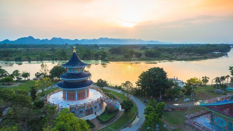 ชbeautiful pagoda in Chinese style stock photography
