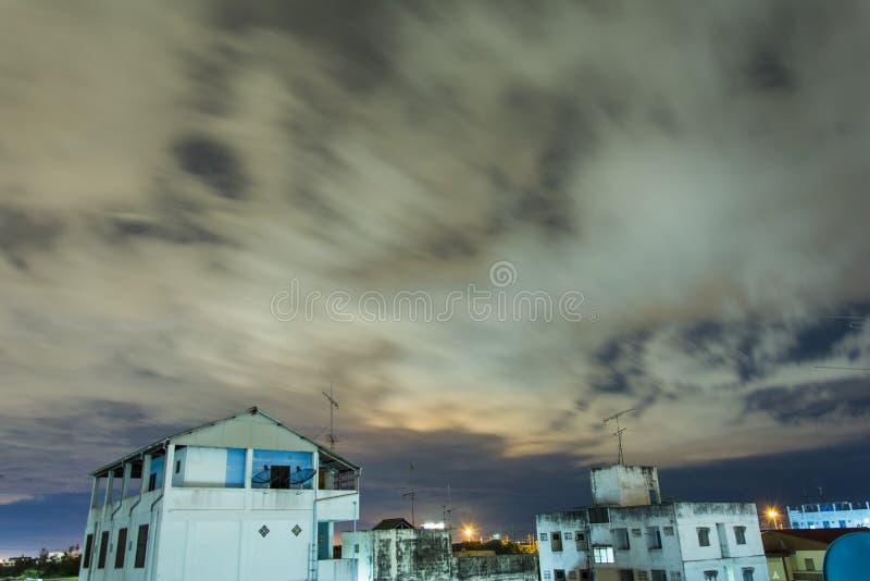 ์Night sky before rain. stock photo