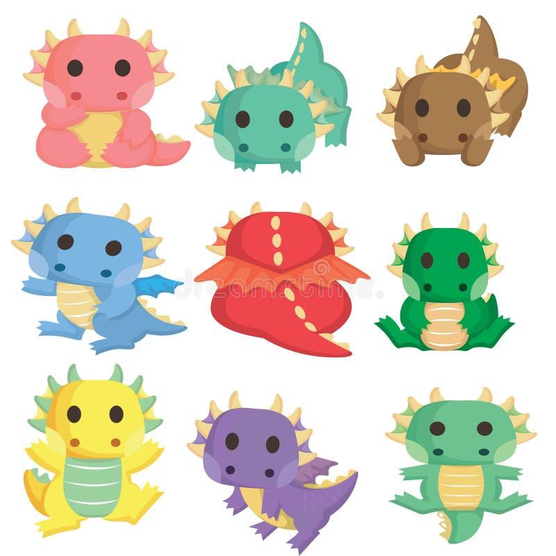 ฺBaby dinosaurussen stock illustratie
