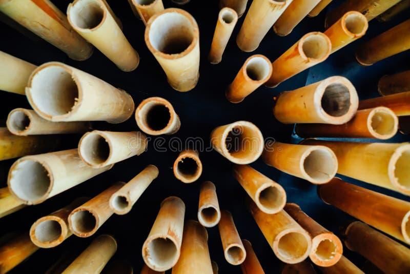 ฺBamboo tubka fotografia stock
