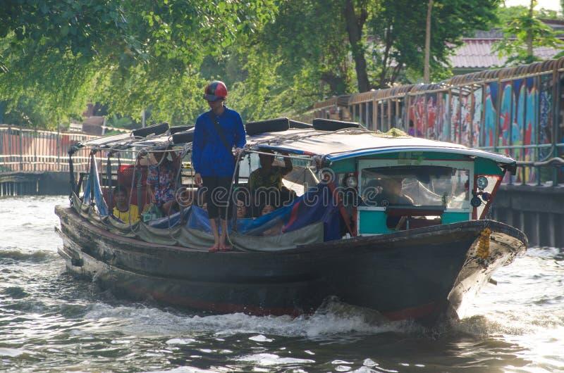 ฺBangkok, Thailand: Passagiersboot stock fotografie