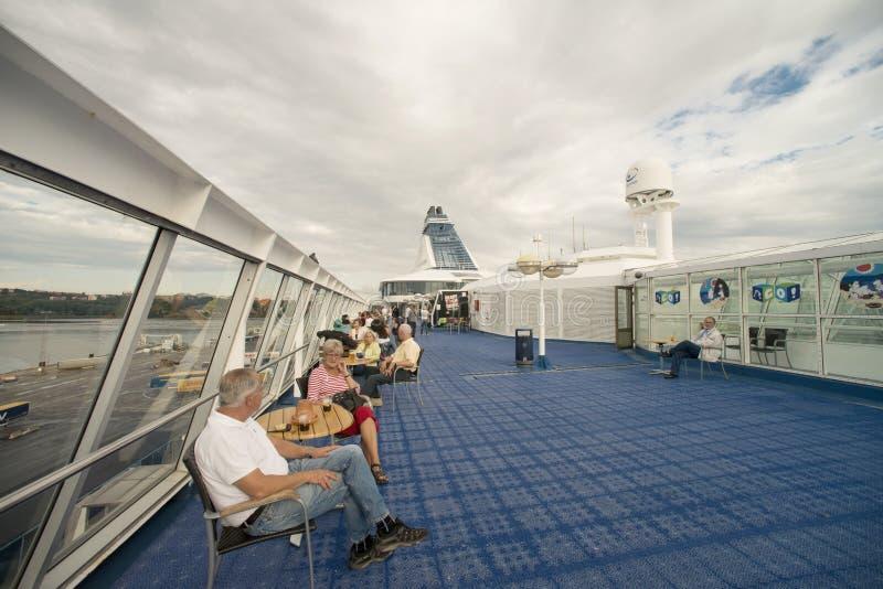 À bord du bateau de croisière photographie stock libre de droits