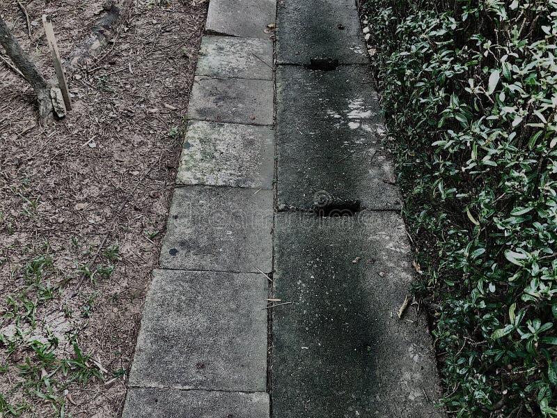 À deux par ce trottoir photos libres de droits