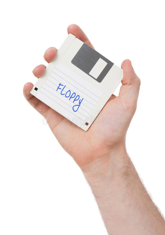 À disque souple, appui de stockage de données image stock