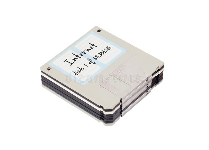 À disque souple - Tachnology du passé, d'isolement sur le blanc photographie stock