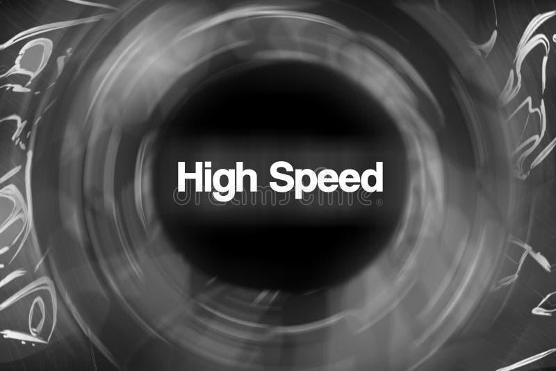 À grande vitesse illustration stock