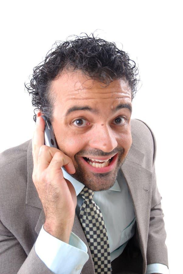 Download À l'appel photo stock. Image du businessman, élégant, parler - 2147408