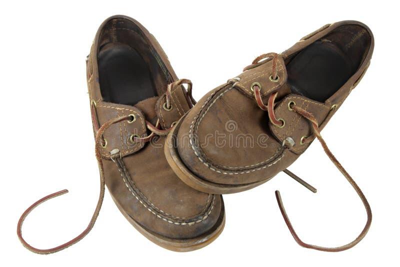 À l'extérieur portées chaussures photos stock