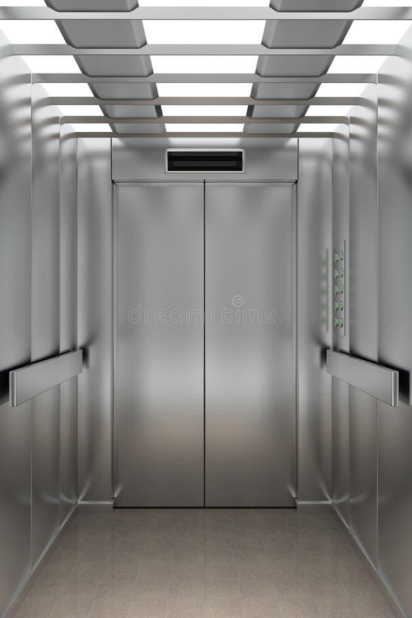 À l'intérieur d'un ascenseur illustration stock