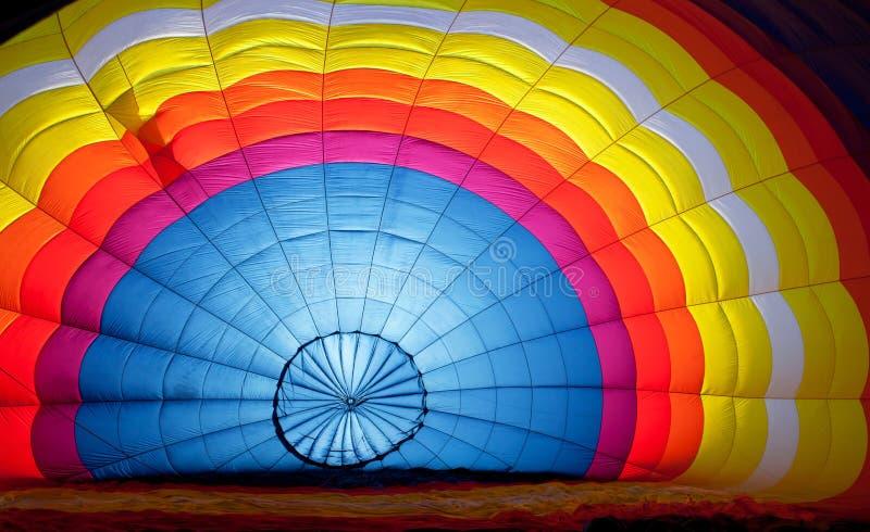 À l'intérieur d'un ballon à air chaud image stock