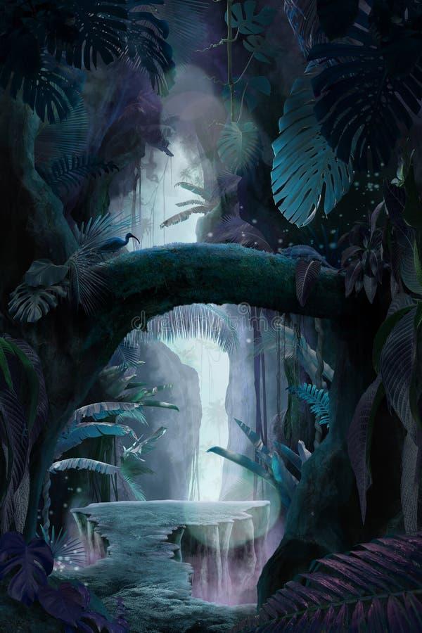 À l'intérieur d'un canyon mystique profond de jungle image libre de droits