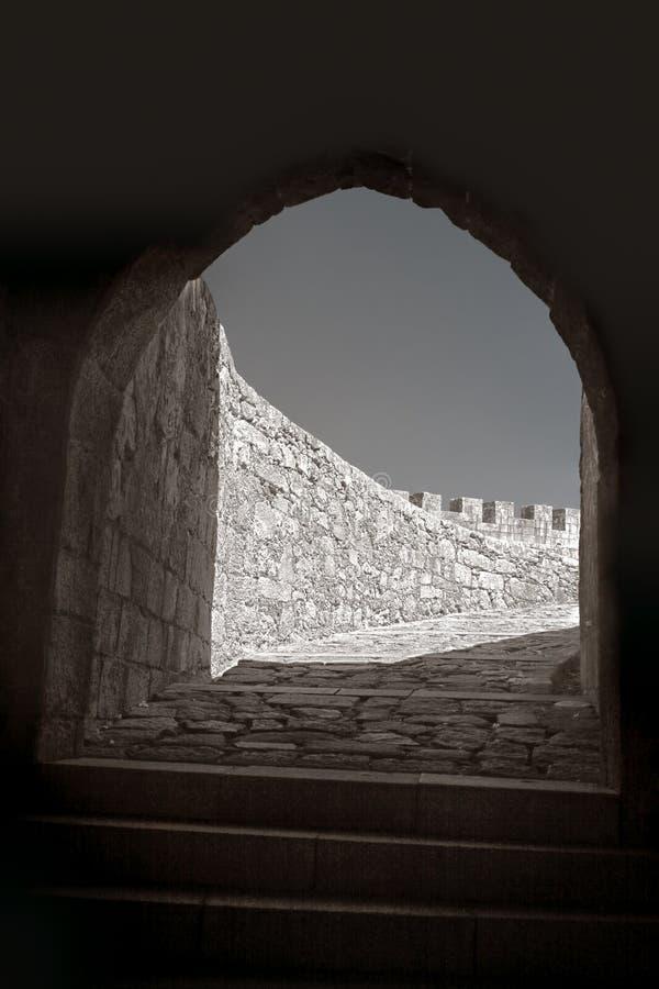 À l'intérieur d'un château médiéval photos libres de droits