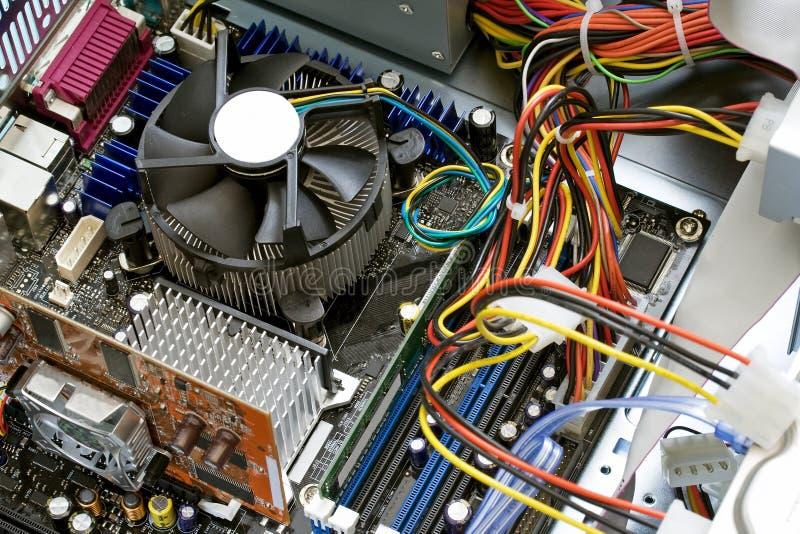 À l'intérieur d'un ordinateur photos stock