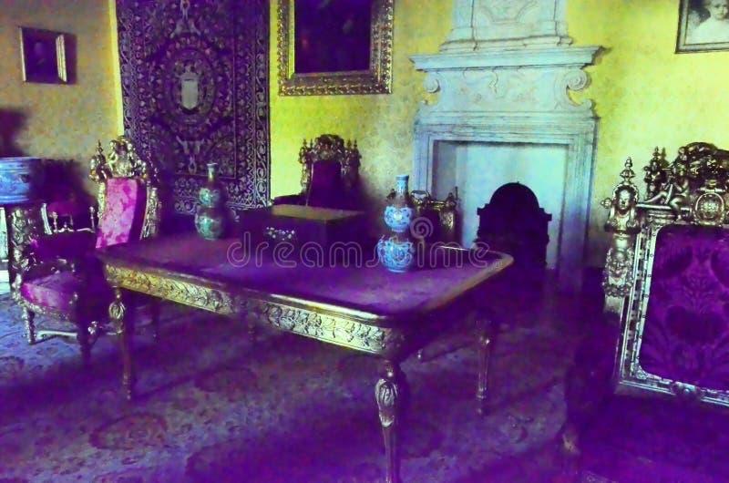 À l'intérieur d'un palais royal au Portugal photo libre de droits