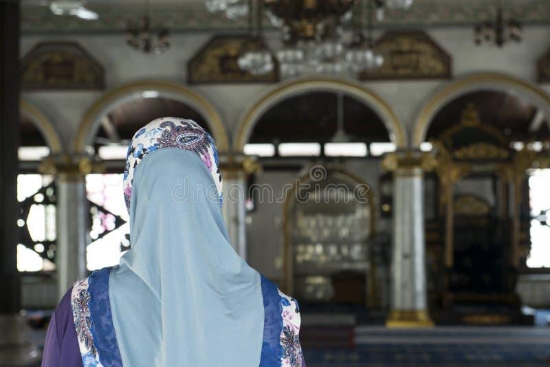 À l'intérieur d'une mosquée sur la ville de Melaka, la Malaisie photos stock