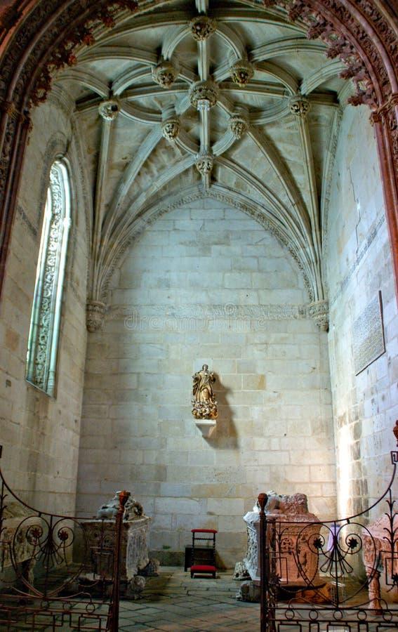 À l'intérieur de l'église de Santa Clara à Vila do Conde image libre de droits