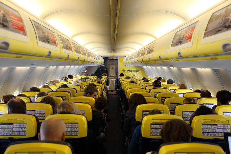L 39 int rieur de de l 39 avion de ryanair photographie for L interieur d un avion