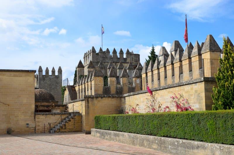 À l'intérieur de du château d'Almodovar reconstitué image stock