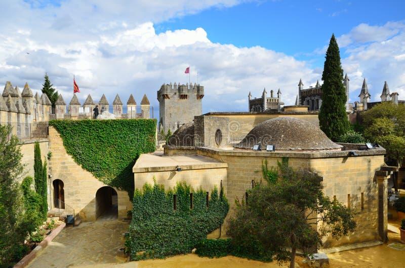 À l'intérieur de du château d'Almodovar restauré images libres de droits