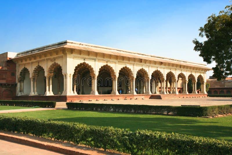 À l'intérieur de du fort rouge à Agra photo stock