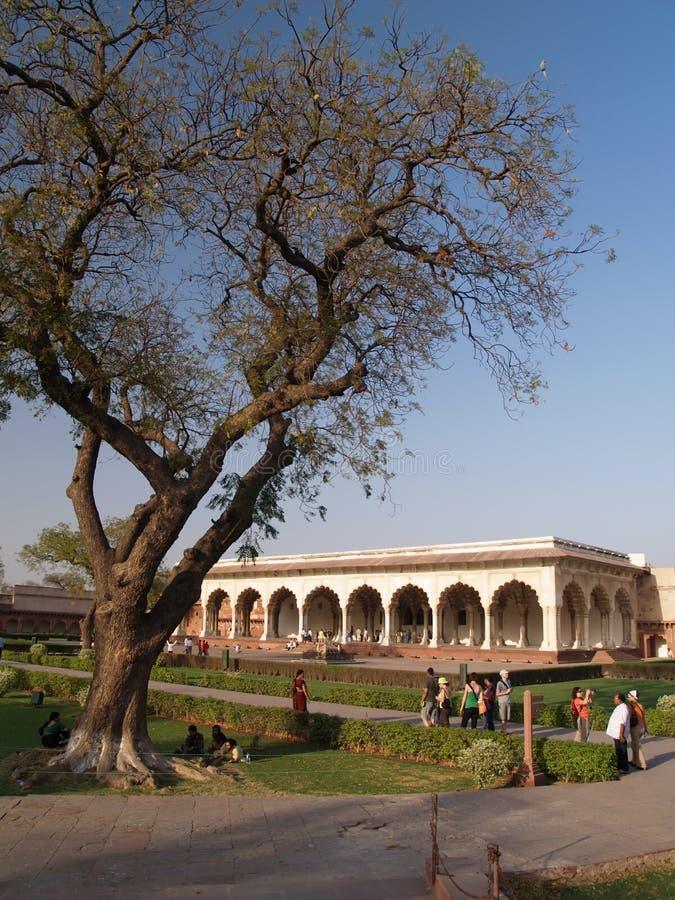 À l'intérieur de du fort rouge à Agra photographie stock libre de droits
