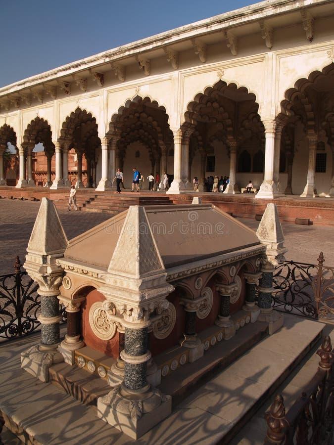 À l'intérieur de du fort rouge à Agra, l'Inde photo libre de droits