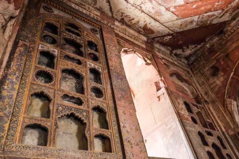 À l'intérieur de du fort rouge à Âgrâ, Inde photo libre de droits